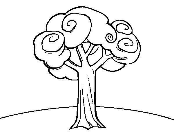 Disegno di un grande albero da colorare for Focos para iluminar arboles