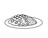 Disegno di Un piatto di riso da colorare