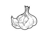 Disegno di Un po 'di aglio da colorare