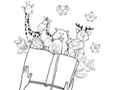 Disegno di Un racconto di animali da colorare