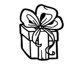 Disegno di Un regalo di Natale da colorare