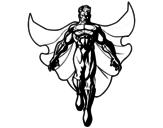 Disegno di Un Supereroe in volo da colorare