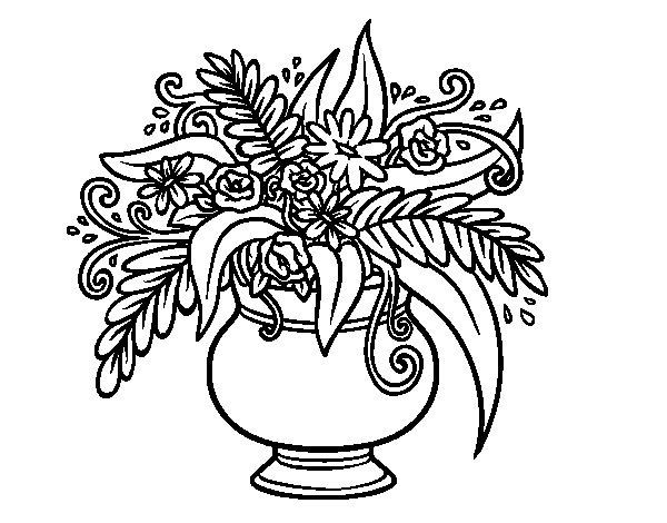 Disegno Fiori Da Colorare Con Google Disegno Di Un Fiore: Disegno Di Un Vaso Con Fiori Da Colorare
