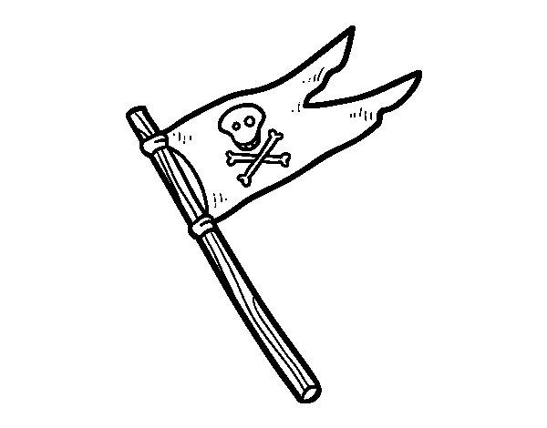 Disegno di Una bandiera pirata da Colorare