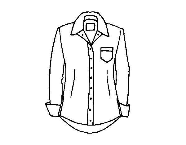 Disegno di Una camicia da Colorare - Acolore.com