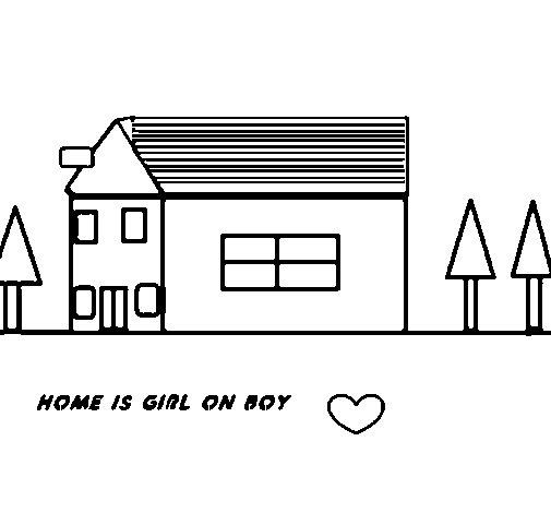 Disegno di una casa nel bosco da colorare for Disegno di una casa