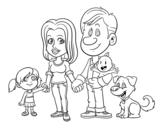 Disegno di Una famiglia unita da colorare