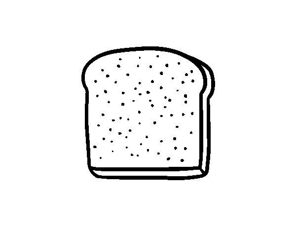 Disegno di Una fetta di pane da Colorare