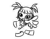 Disegno di Una ragazza manga da colorare