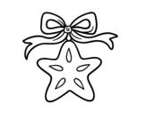 Disegno di Una stella natalizia da colorare