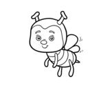 Disegno di Un'ape da colorare