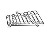Disegno di Uno xilofono da colorare