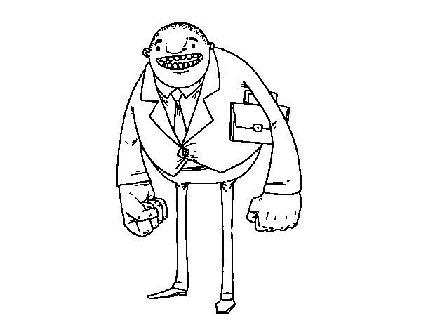 Disegno di Uomo di grandi pugni da Colorare