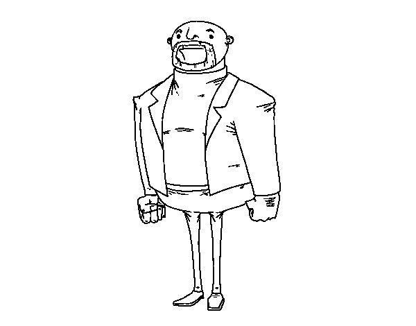 Disegno di Uomo vestito moderno da Colorare