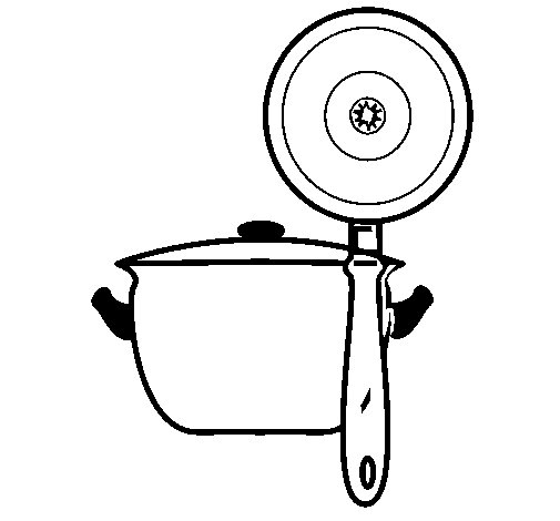 Disegno di utensili da cucina da colorare for Disegni da colorare cucina