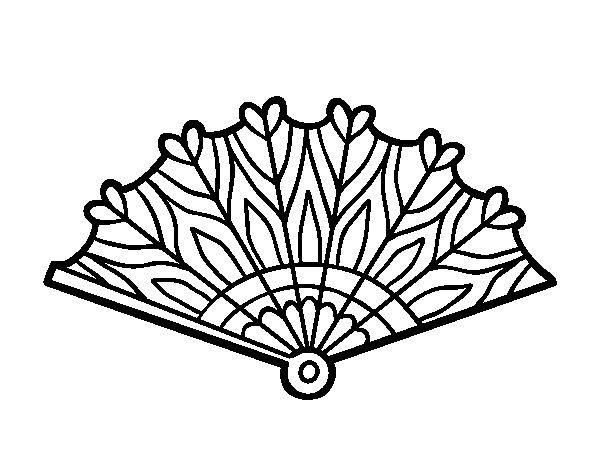 Disegno Di Cuori: Disegno Di Ventaglio Cuori Da Colorare