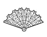 Disegno di Ventaglio cuori da colorare