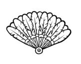 Disegno di Ventaglio di piume da colorare