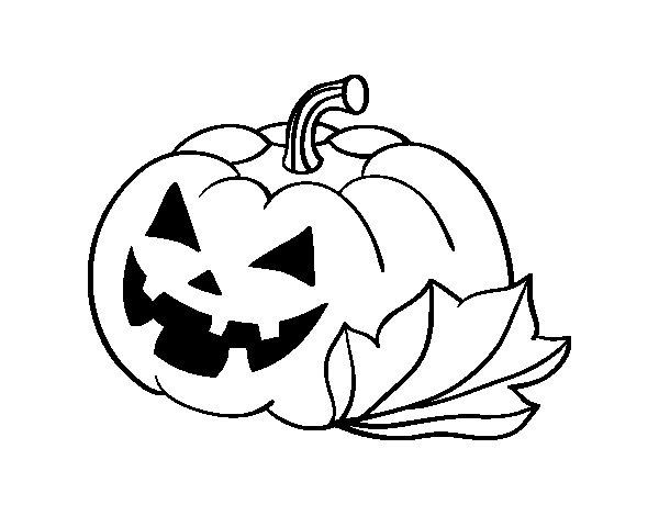 Zucca Halloween Da Colorare: Disegno Di Zucca Di Halloween Decordada Da Colorare