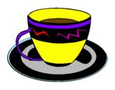 Disegno Tazzina di caffè  pitturato su miguel