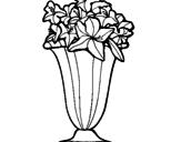 Disegno Vaso di fiori pitturato su katy
