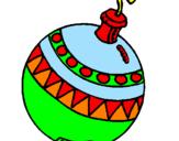 Disegno Palline di Natale pitturato su ale