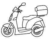 Disegno Ciclomotore pitturato su moto