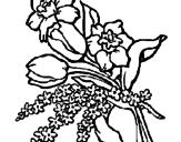 Disegno Mazzo di fiori pitturato su GTDIDR6ED65
