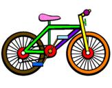 Disegno Bicicletta pitturato su bici