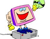 Disegno Computer pitturato su DISEGNO PC