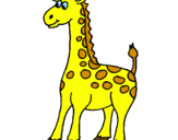 Disegno Giraffa pitturato su simo
