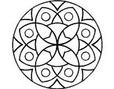 Disegno Mandala 13 pitturato su mandala colori freddi