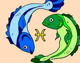 Disegno Pesci pitturato su trilly