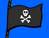 Disegno Bandiera dei pirati pitturato su BELLAAAAAAAAAAA..sau...<3