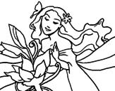 Disegno Primavera pitturato su giulia