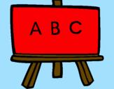 Disegno Lavagna pitturato su irma
