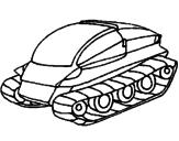 Disegno Nave carro armato pitturato su italo