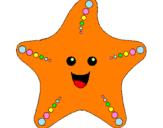 Disegno Stella di mare pitturato su stella marina