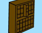 Disegno Libreria pitturato su SAMUELA E MATTEO f