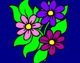 Disegno Fiorellini  pitturato su fiori    bellissimi