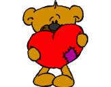 Disegno Amore II pitturato su nene
