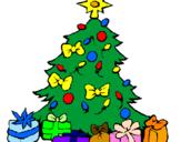 Disegno Albero di Natale  pitturato su Immacolata Esposito