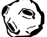 Disegno Asteroide pitturato su meteorite