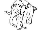Disegno Mammuth II pitturato su MAMMUT