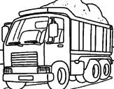 Disegno Camion da carico  pitturato su ROBERTO