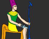 Disegno Amon pitturato su Federico