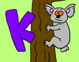 Disegno Koala  pitturato su nicole