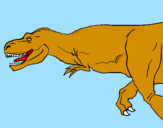 Disegno Tyrannosaurus Rex  pitturato su LORENZO