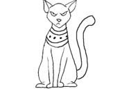 Disegno Egiziano gatto pitturato su irene