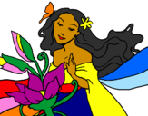 Disegno Primavera pitturato su Ele
